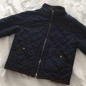 Polo Ralph Lauren Navy Blue Quilted Jacket 2/2T
